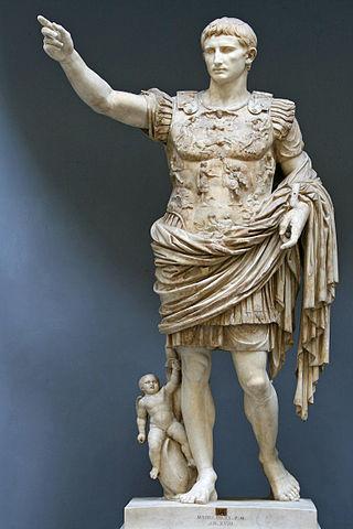 羅馬帝國第一位皇帝奧古斯都 圖片來源:Wikimedia Commons