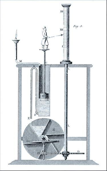 重現「Clepsydra」的設計圖 圖片來源:Wikimedia Commons
