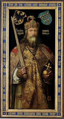 卡爾大帝/查理大帝/查理曼 圖片來源:Wikimedia Commons