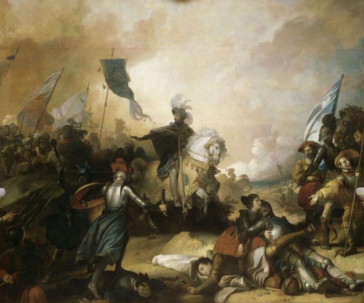 馬里尼亞諾戰役《弗朗索瓦一世下令停止追殺瑞士軍人》 圖片來源:Wikimedia Commons
