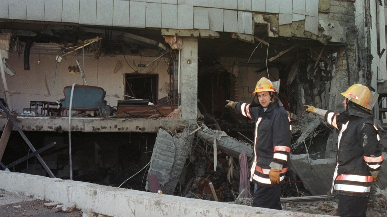 中國大使館被炸毀
