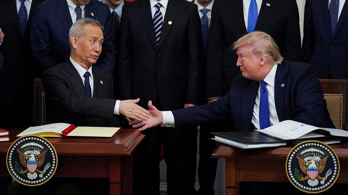 美中簽訂第一階段貿易協議