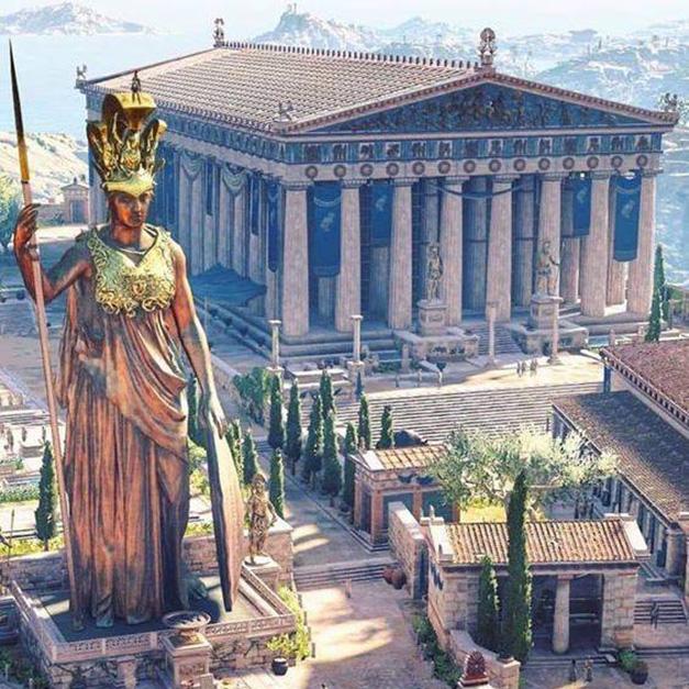 雅典衛城失去的記憶-雅典娜帕馬特洛斯神像