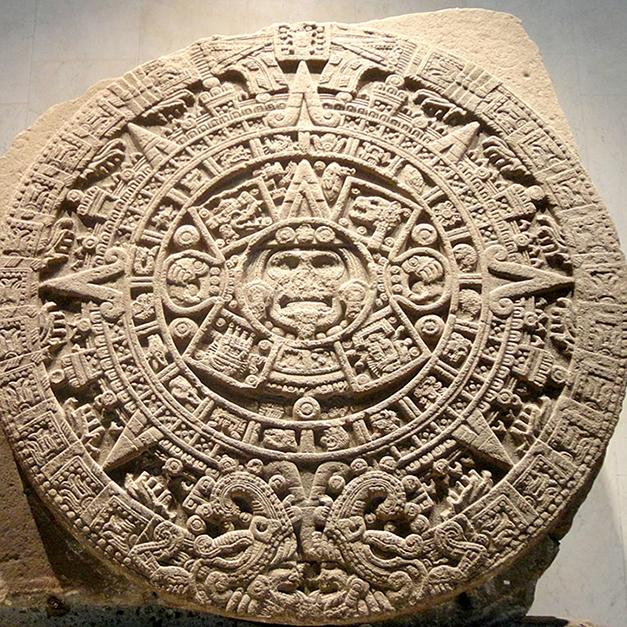 充滿曆法和神話-阿茲特克日曆石
