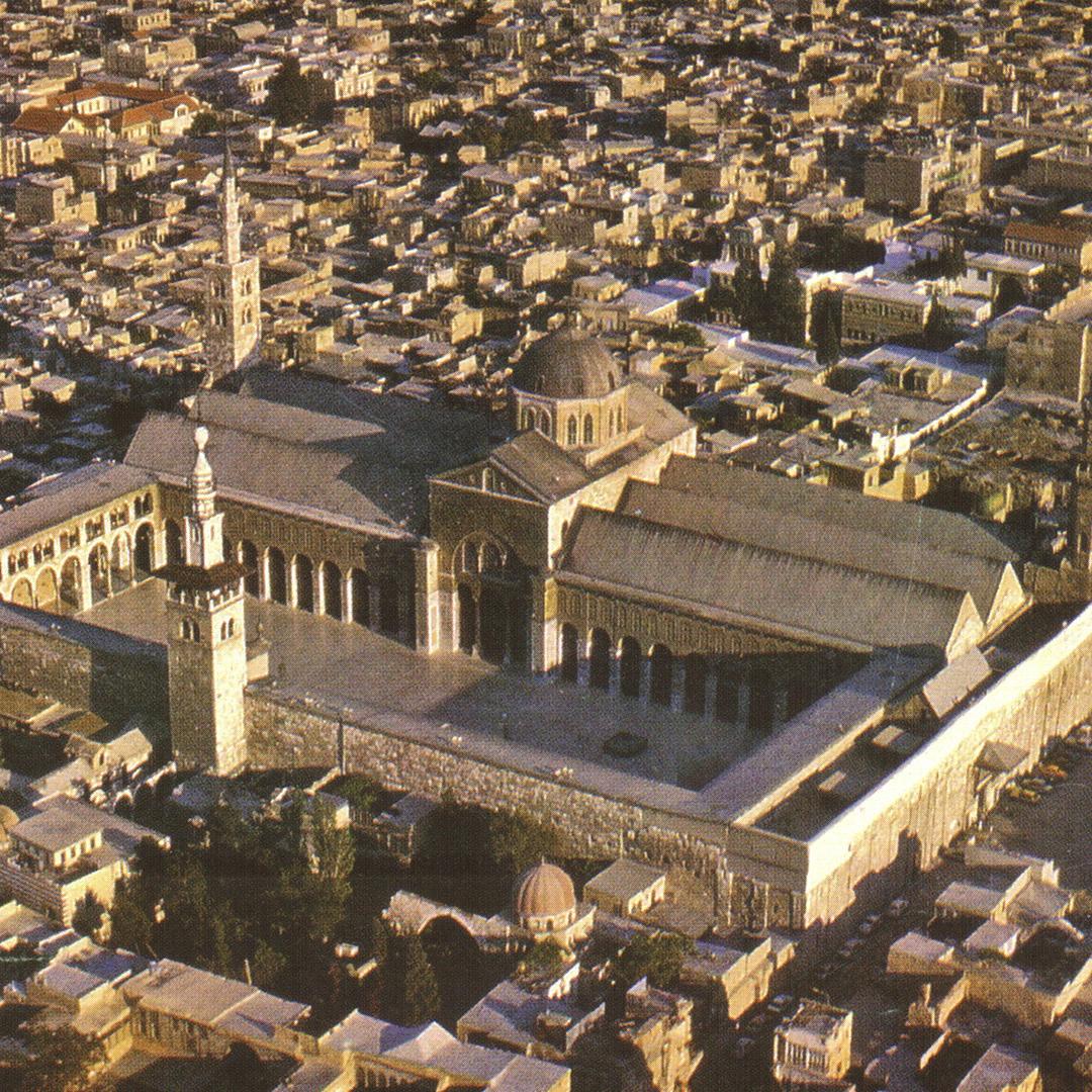 倭馬亞大清真寺的拜占庭基督教式建築-宣禮塔