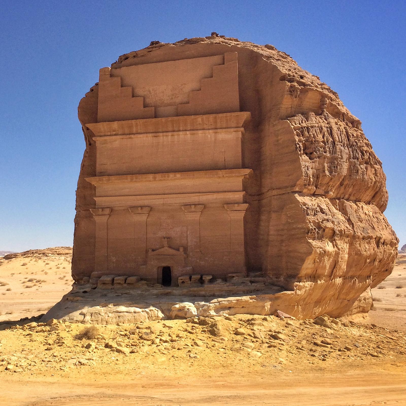 揉合眾多古代帝國文化風格的砂岩陵墓-瑪甸沙勒